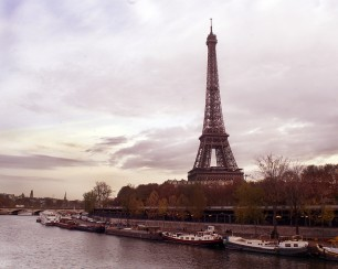 Eiffel Tower in a morning